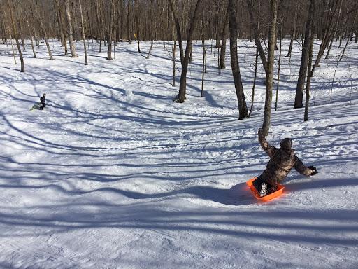 Sledding hill action!