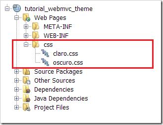 spring mvc agregar archivos css