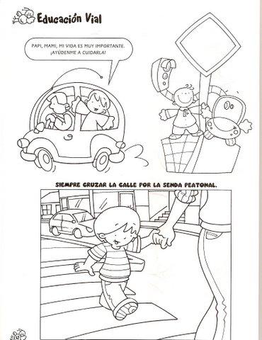 FICHAS DE EDUCACION VIAL PARA PINTAR