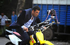 "Film star Salman Khan was seen shooting for his upcoming film ""Jai Ho"" at Lokhandwala Back Road in Mumbai.  On 15/10/2013. PIC/NIMESH DAVE"