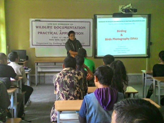 Workshop on Wildlife documentation and practical application