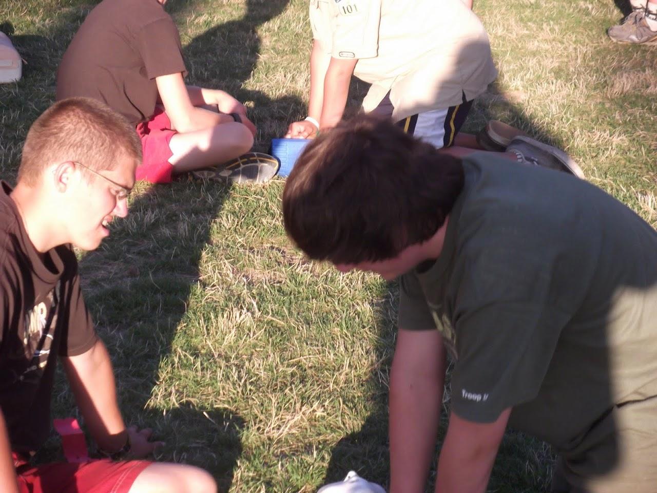 Dallis doing CPR