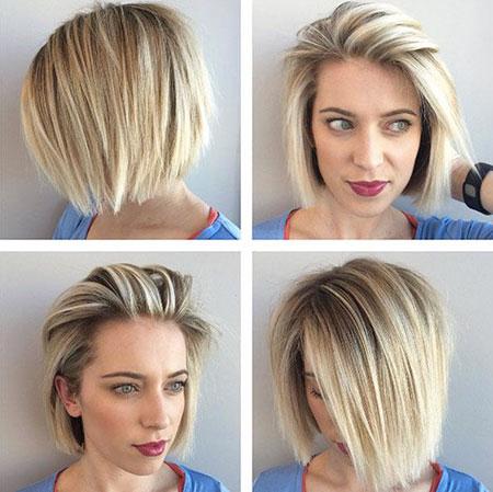 Casual Short Straight Blonde Hairstyles 2018 Fashionre