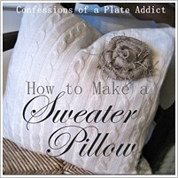 CONFESSIONS OF A PLATE ADDICT How to Make a Sweater Pillow
