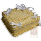 53. kép: Ünnepi torták - Sárga virágos szalagos torta