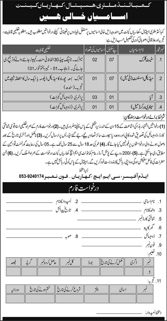 Combined Military Hospital CMH Jobs October 2020