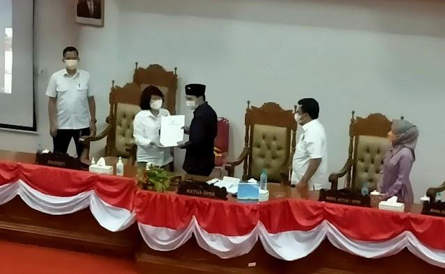 Paripurna DPRD Pulang Pisau, KUA-PPAS APBD Perubahan TA 2021 Disepakati Bersama