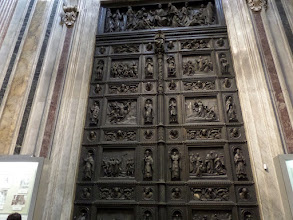 Photo: This door is patterned after the famous Baptistery in Florence.