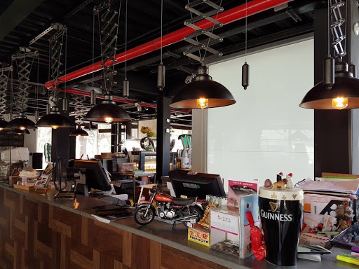 Inside J Cafe in Kaohsiung Central Park Taiwan