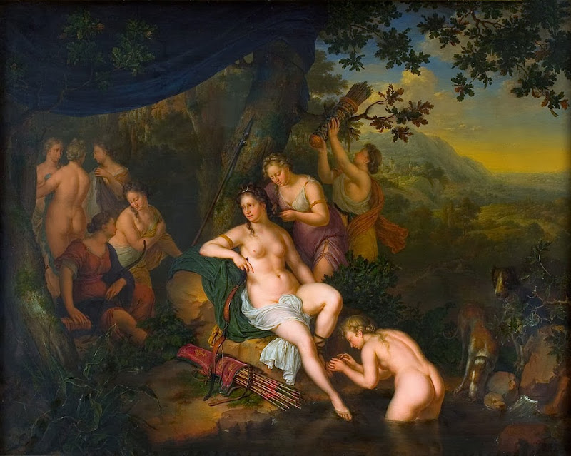 Willem van Mieris - Diana and her Nymphs 1702