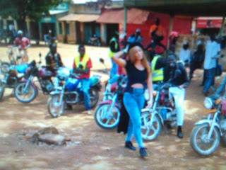 Alaine in Kakamega doing Wafula video