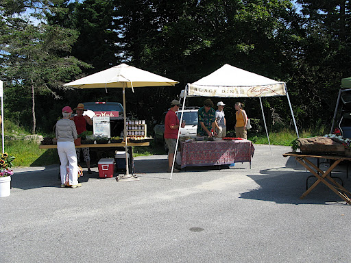 Setting up farm stand