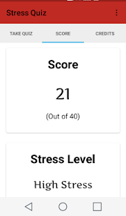 Stress Quiz screenshot
