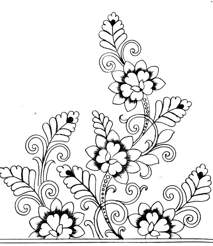 How to draw an easy hand embroidery flowers designs/hand embroidery flowers designs images free download.