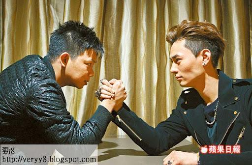 林子善(左)和何浩文因今次合作成為好友
