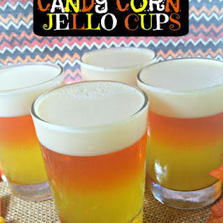 Jello Candy Corn Cups‏
