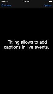 Ventana de GoAll mostrando unos subtítulos en color blanco sobre fondo negro.