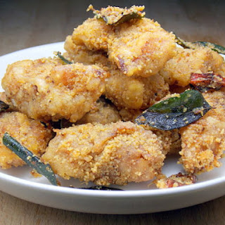 Chicken Fingers with Salted Duck Eggs