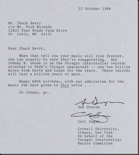 Letter to Chuck Berry