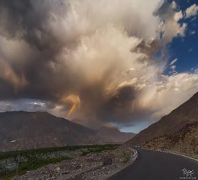 Weather drama on Karakoram Highway - Pakistan