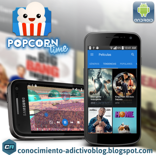 Popcorn Time para Android 0.2.4