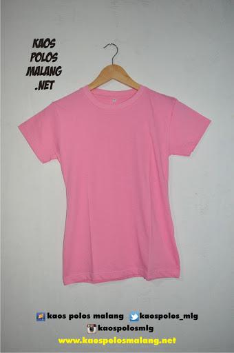 kaos polos malang merah muda