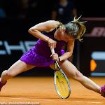STUTTGART, GERMANY - APRIL 20 : Annika Beck in action at the 2016 Porsche Tennis Grand Prix