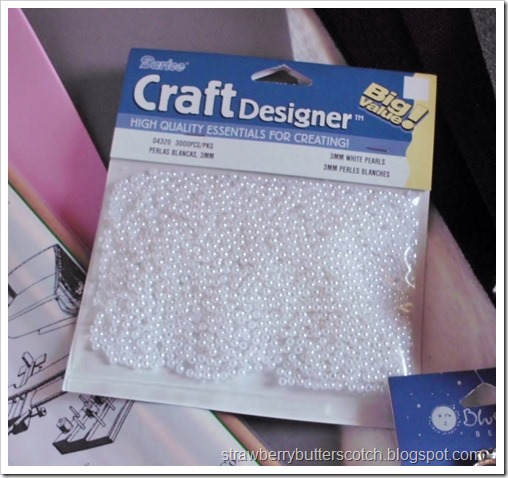 Craft Haul! or I just Went in for One Thing!  Super tiny pearls, good for dolls.