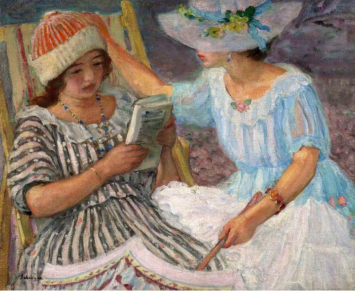 Henri Lebasque - Marthe and Nono -1917