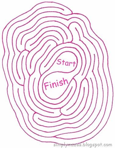 Maze Number 108: Balance.  A pink printable maze.