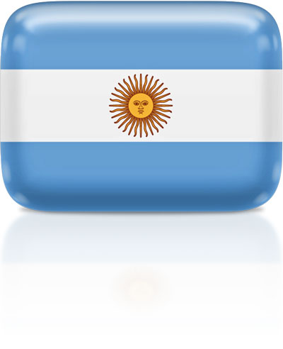 Argentine flag clipart rectangular
