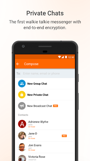 Voxer Walkie Talkie Messenger screenshot for Android