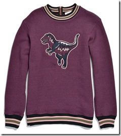 55055 Varsity T-Rex Sweatshirt - BKRD