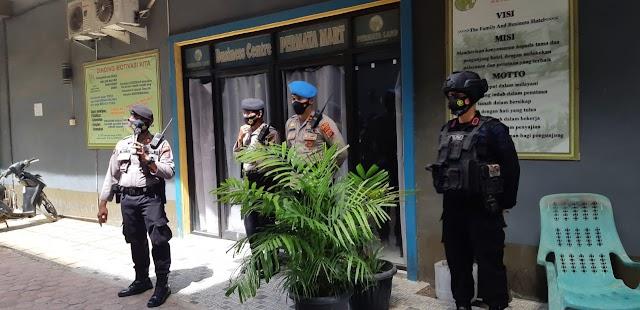 Batalyon B Pelopor Brimob Poldasu Lakukan Pengamanan Sidang Penetapan Bupati Terpilih Labuhan Batu