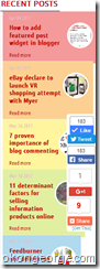 Colorful recent posts widget in blogger