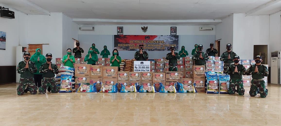 Kodim 0906/Tenggarong Kirim Bantuan Logistik ke Kalimantan Selatan