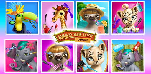 Style hair and crazy makeover sloth, leopard, toucan, elephant, bear & giraffe!