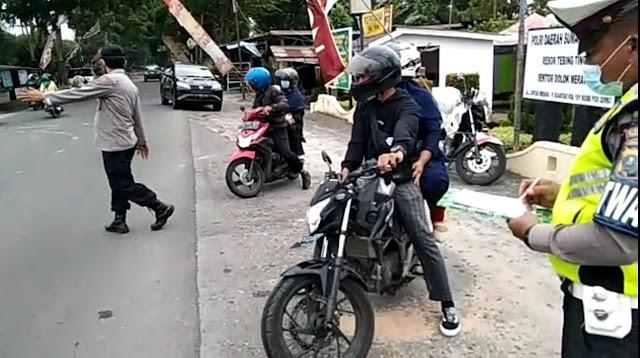 Lagi, 36 Ranmor Putar Balik Dari Pos Pam Dolok Merawan, Iptu M Samosir : Tidak Ada Toleransi