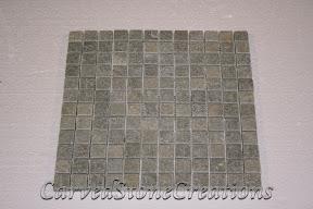 1x1, Flooring, Flooring & Mosaics, Green, Interior, Mosaic, Natural, Quartzite, Slate, Stone, Tile, Tumbled
