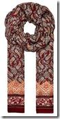 Hallhuber bordeaux paisley print scarf
