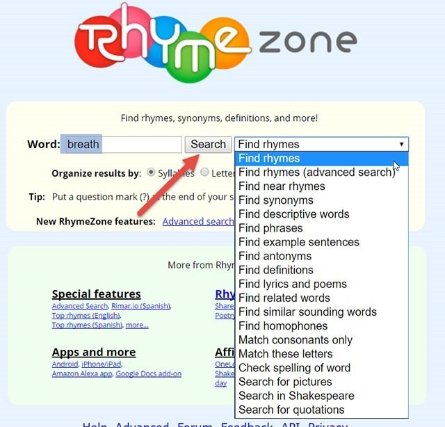rhyme-zone