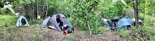 Camping on Cramond Island