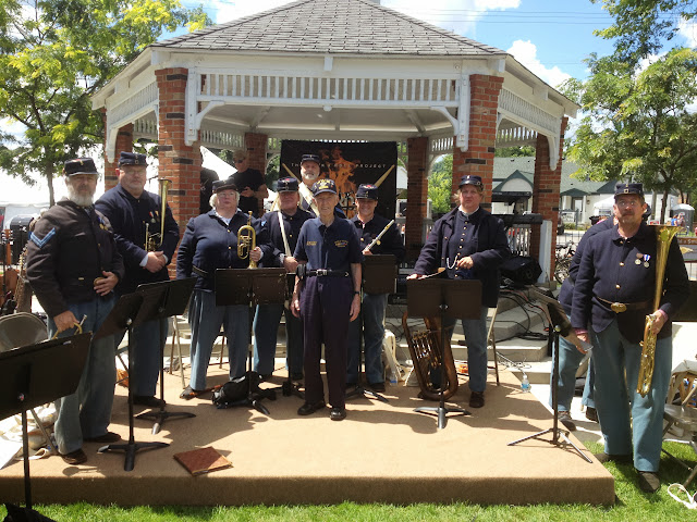 "5th MI Regimental Band with Donald Steiner whose 3rd great uncle wrote the poem ""Vacant Chair"""