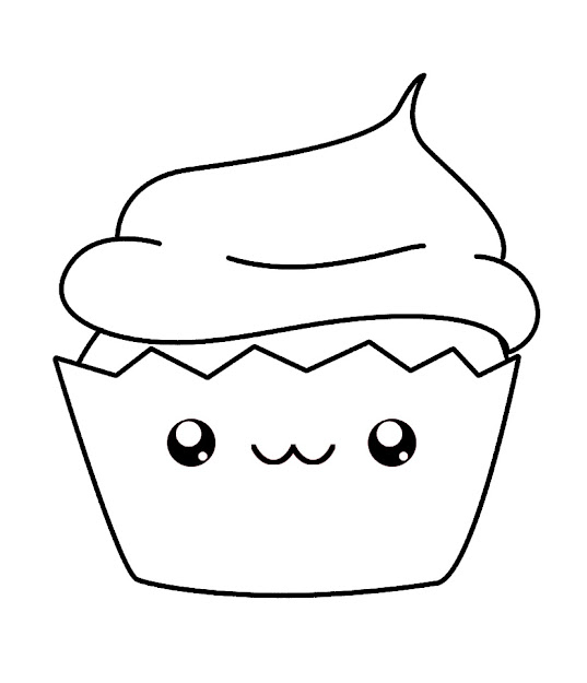 Cupcake Coloring Pages Foods
