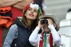 Magyar szurkolók a franciaországi labdarúgó Európa-bajnokságon az Ausztria - Magyarország mérkőzésen, 2016. június 14-én. (MTI Fotó: Illyés Tibor)