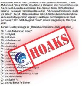 Hoax Habib Rizieq bikin Kominfo turun tangan klarifikasi