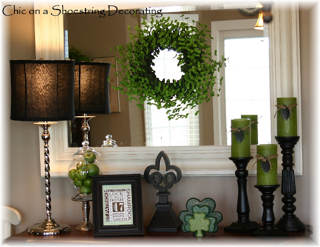 chic on a shoestring decorating st patrick 39 s day decor