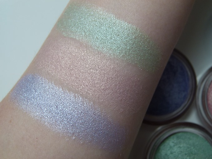 trend IT UP Metallic Eye Shadow Swatches 040 050 060