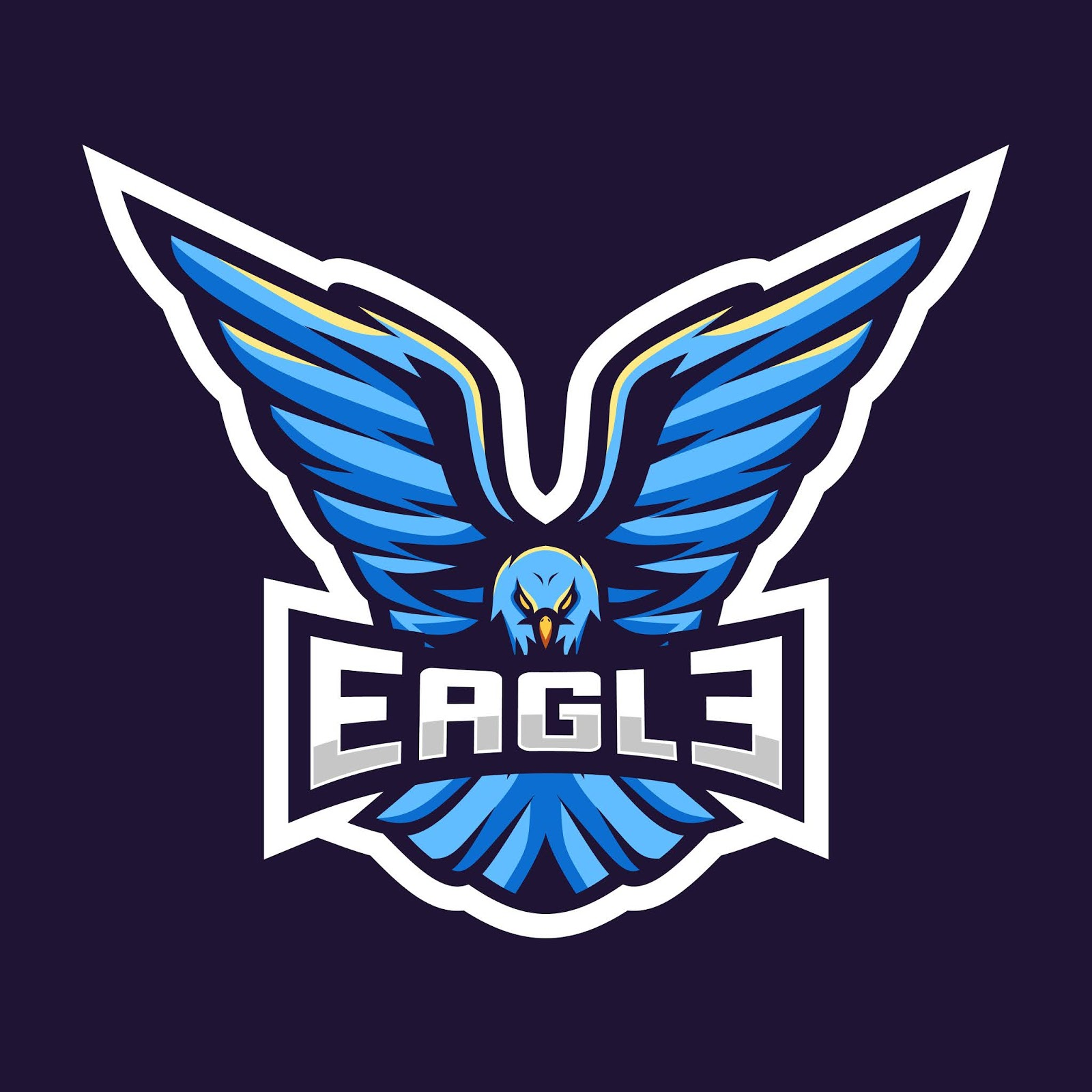 Eagle Esport Logo Illustration Awesome Free Download Vector CDR, AI, EPS and PNG Formats