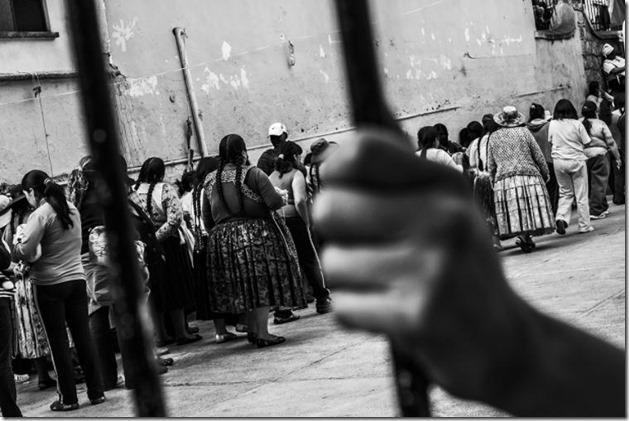 Mujeres en la cárcel en Bolivia